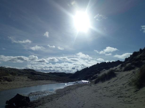 Sunlight on Balmedie Beach