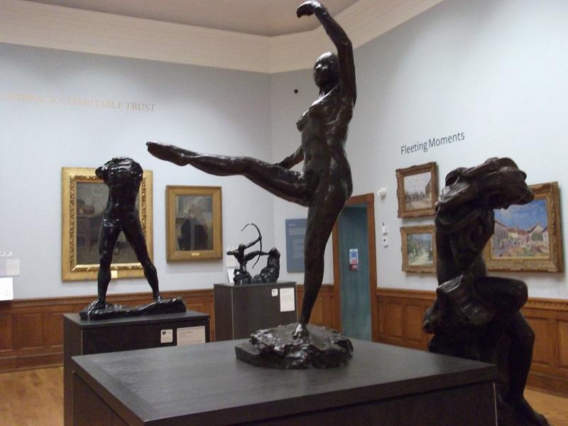 Sculpture of ballerina by Edgar Degas